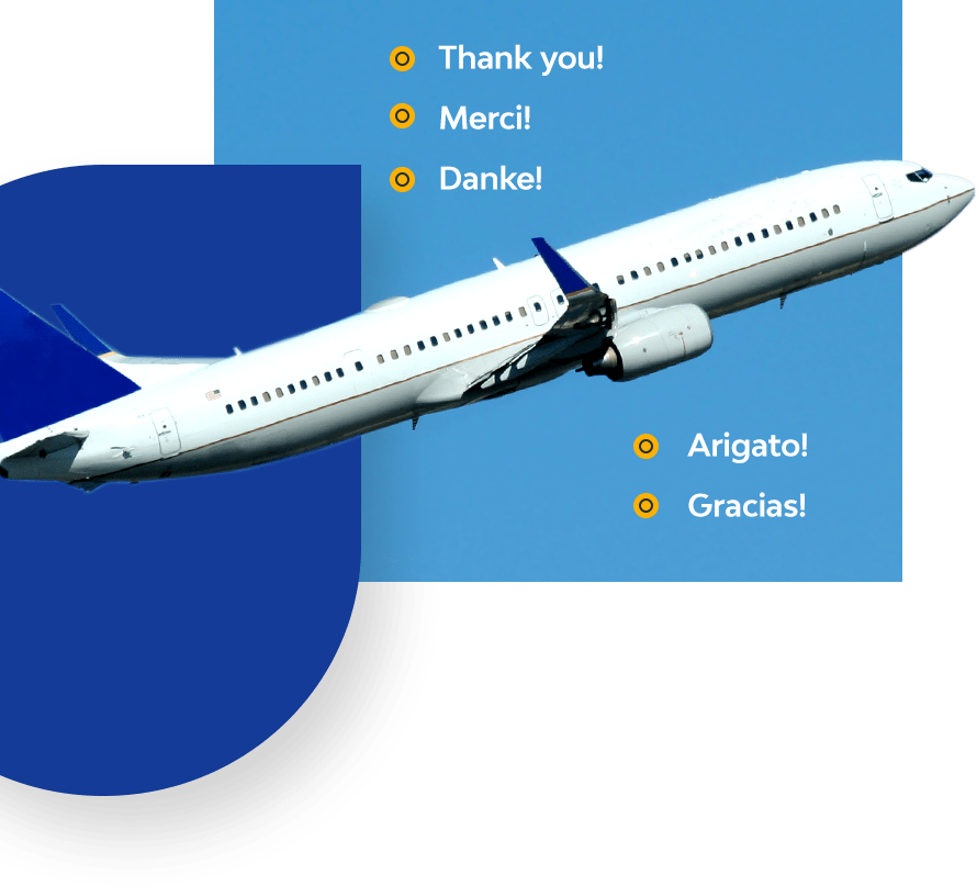 airplane shipping packages wordwide