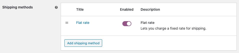 flat rate screenshot